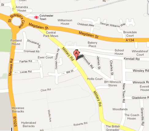 Google map for JaysRays Tanning Salon Colchester essex